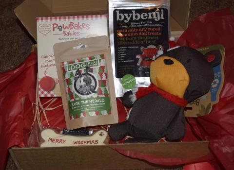 december barky box by benji dog treats